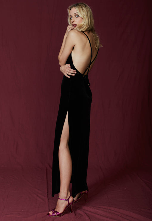 Don't Be Jealous Velvet Maxi - BLACK