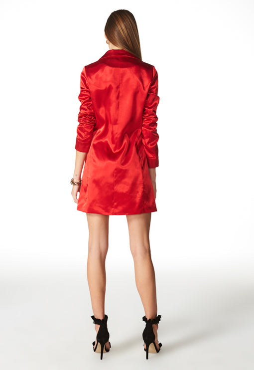 Crush On You Blazer Dress - RED
