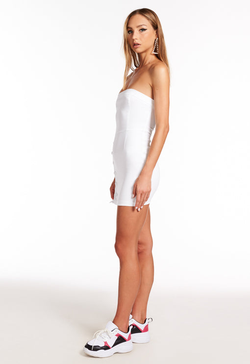 Old Flame Mini Dress - WHITE