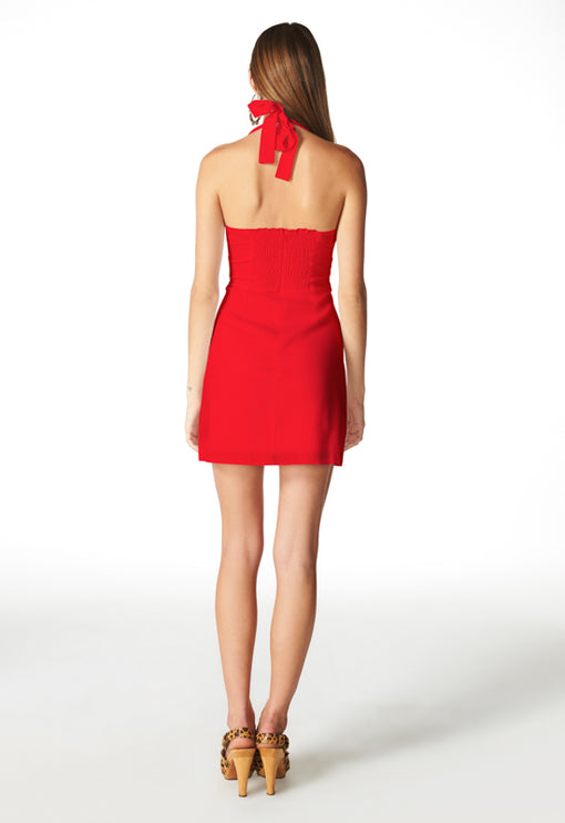 Claudia Halter Dress - RED