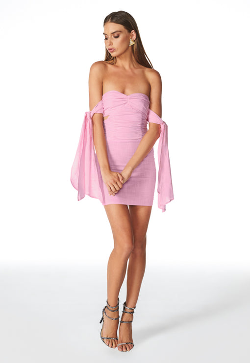 Wild At Heart Mini Dress - BABY PINK