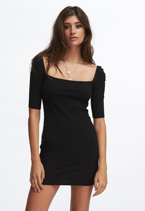 Night Is Young Dress - BLACK