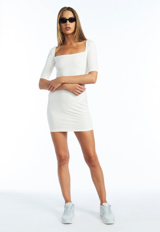 Night Is Young Dress - WHITE