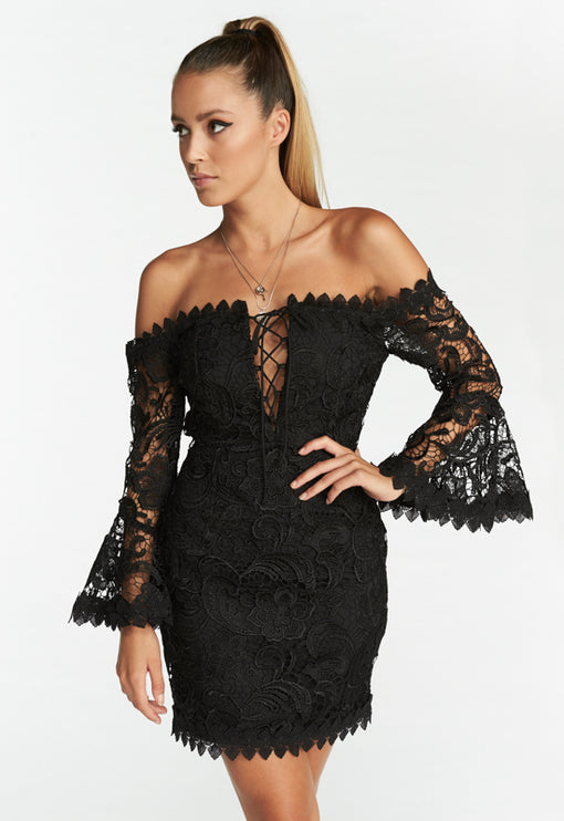 Kiss On The Lips Dress - BLACK