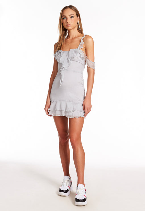 Pasadena Mini Dress - CLOUDY GREY