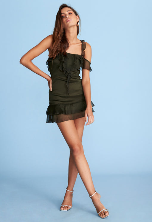Pasadena Mini Dress - KHAKI