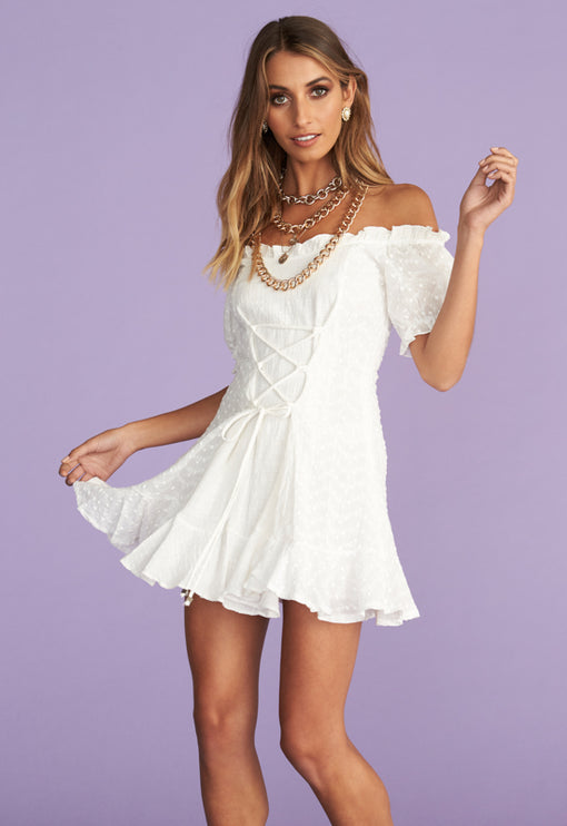 The Goldie Dress - WHITE