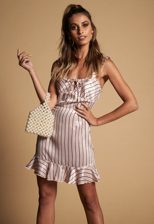 Love Me Dress - PINK STRIPE
