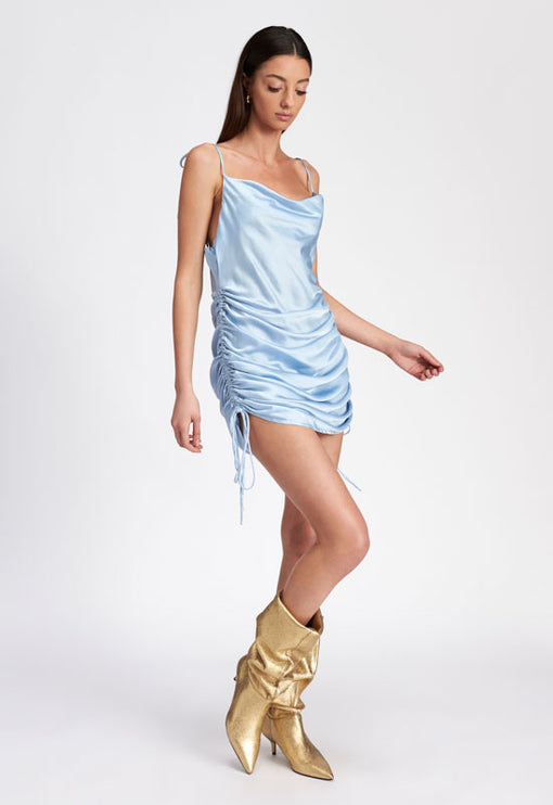 String Along Mini Dress - BABY BLUE
