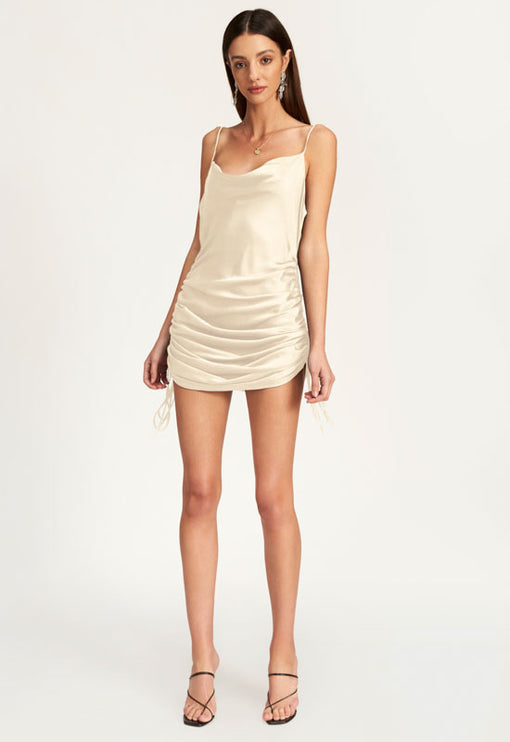 String Along Mini Dress - CHAMPAGNE