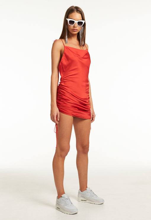 String Along Mini Dress - RED