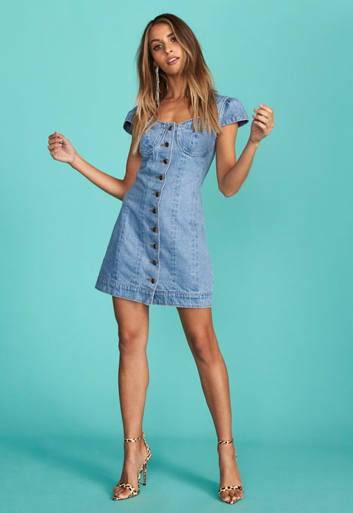 Catanzaro Mini Dress - DENIM BLUE