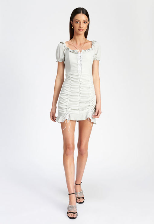 Feng Shui Mini Dress - SILVER