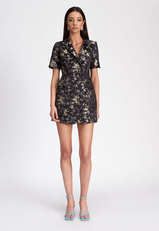 The Danielle Blazer Dress - BLACK JACQUARD