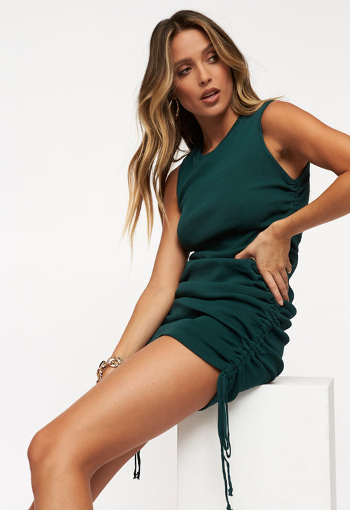 Military Minds Mini Dress - FOREST GREEN<br><b>ONLINE EXCLUSIVE</b></br>