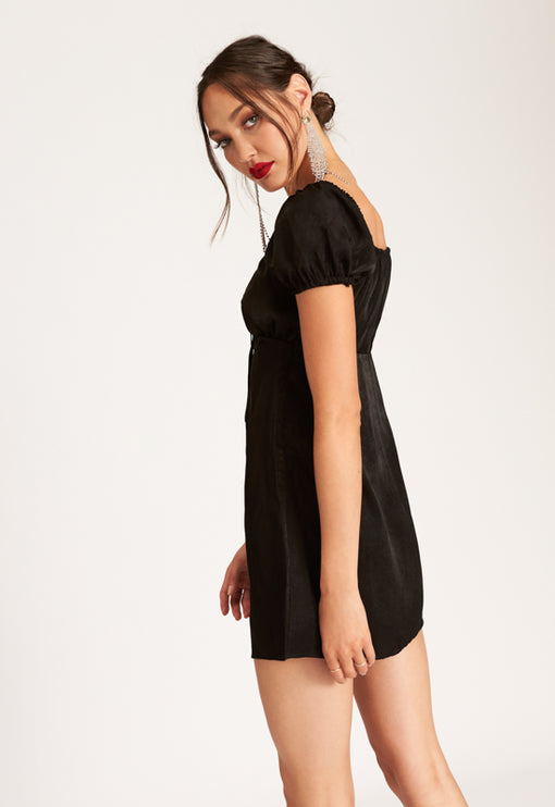 The Bradshaw Mini Dress - BLACK