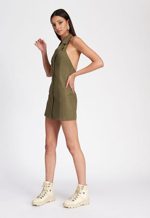 Angel Armour Mini Dress - SAGE
