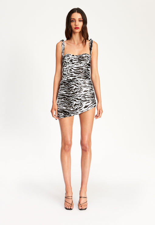 Senorita Mini Dress - ZEBRA