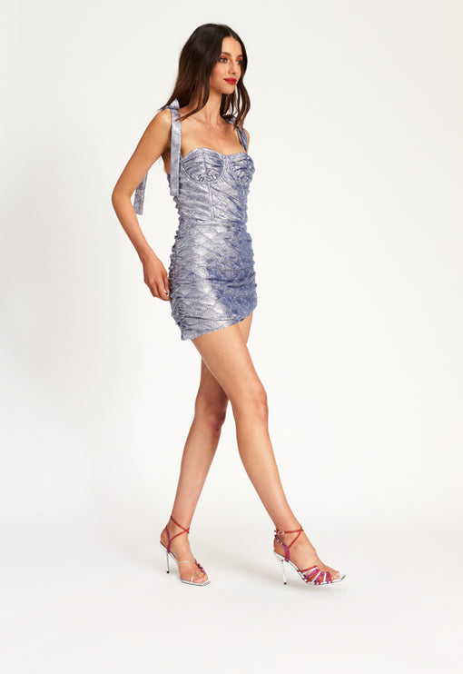Senorita Mini Dress - BLUE