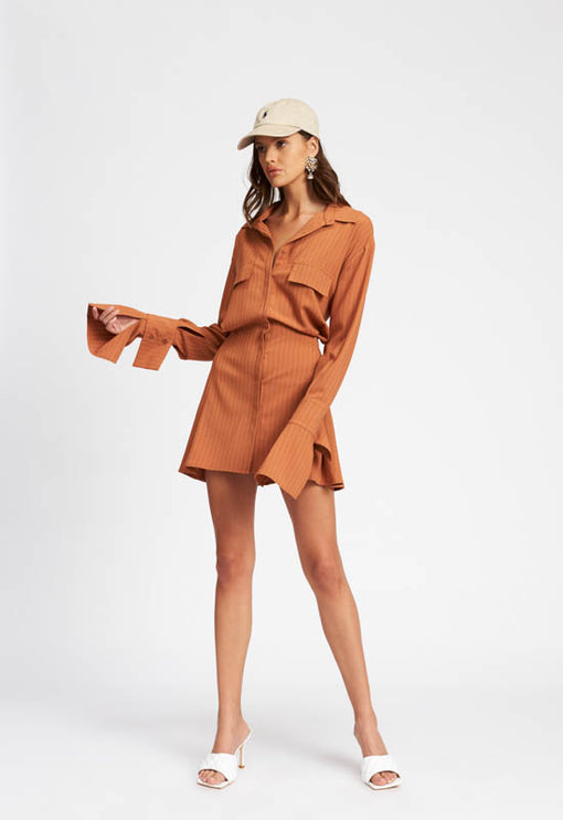 Cover Girl Mini Dress - TAN