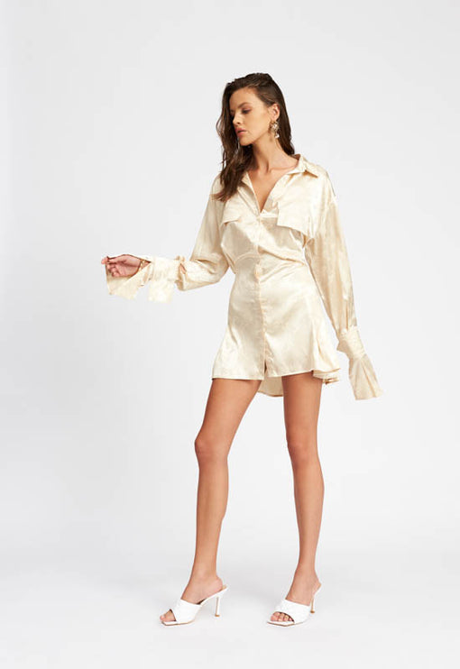 Cover Girl Mini Dress - CREAM
