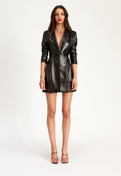 All Night Long Blazer Dress - BLACK