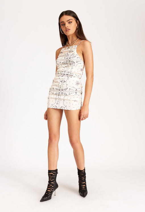 Wild Wild West Mini Dress – CREAM BANDANA