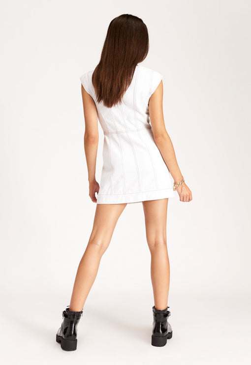 Dakota Mini Dress – CREAM DENIM