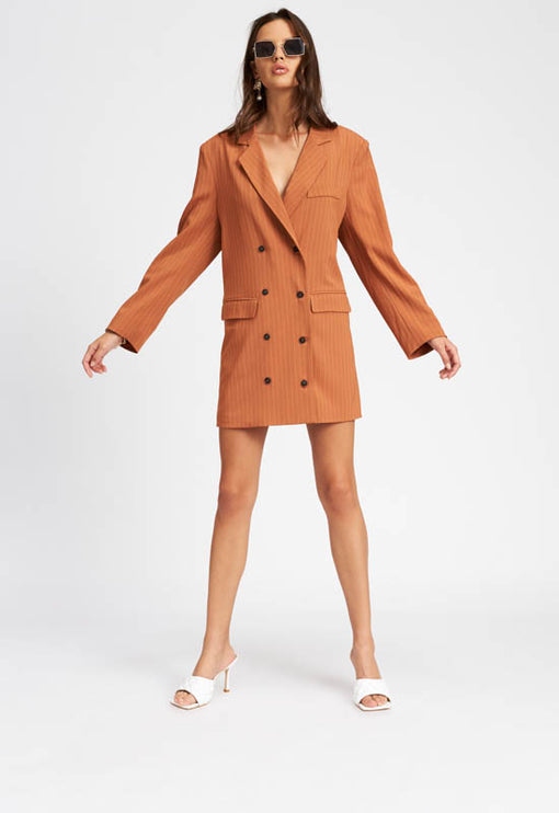 Moulin Rouge Blazer Dress - TAN
