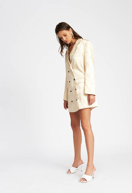 Moulin Rouge Blazer Dress - CREAM