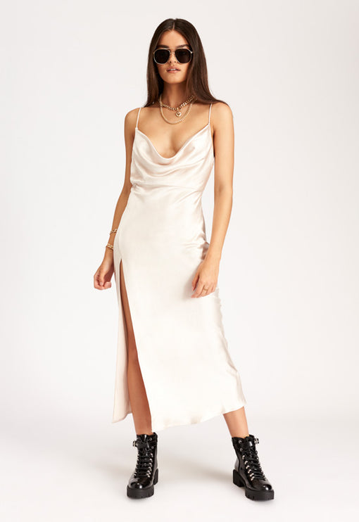 Walk The Line Midi Dress – ECRU