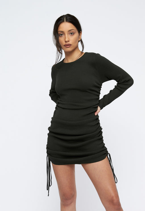 Military Minds Long Sleeve Dress - MOSS