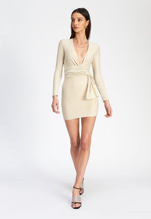 Waiting For Tonight Mini Dress - CREAM
