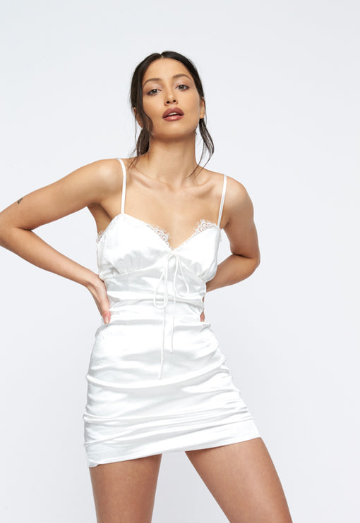 Lexington Mini Dress - WHITE