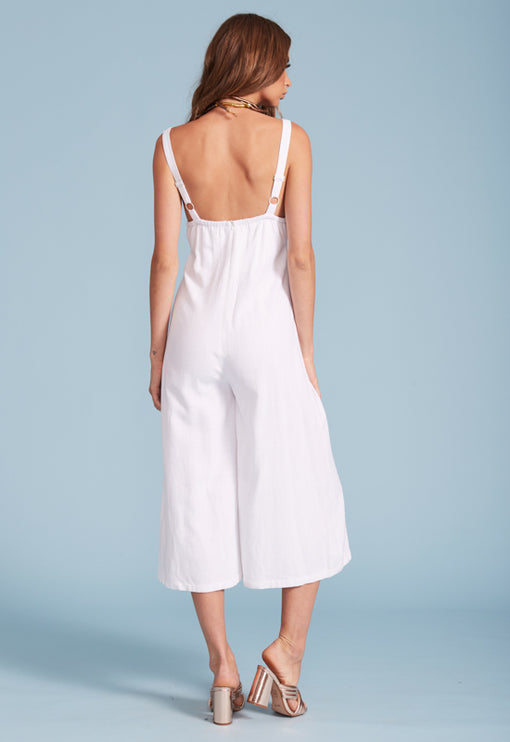 Fresco Jumpsuit - WHITE