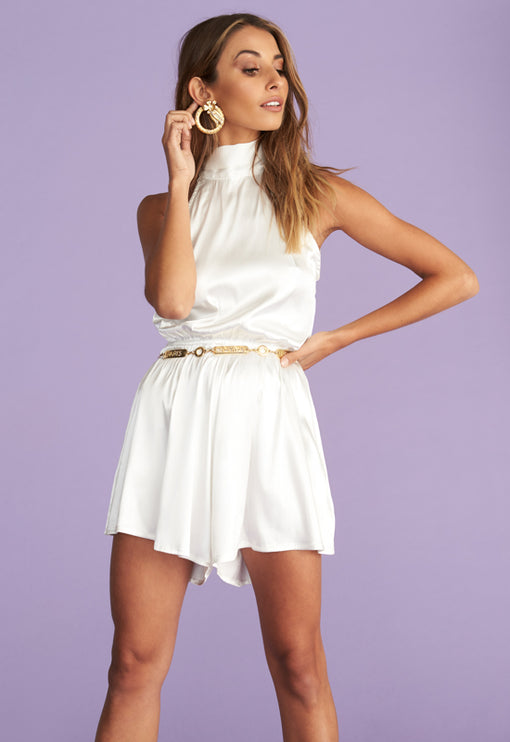 High Expectations Romper - WHITE