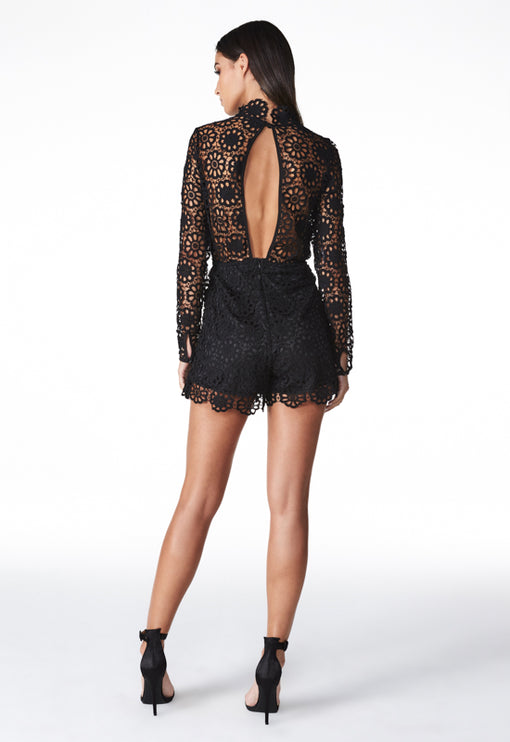 Secret Garden Romper - BLACK