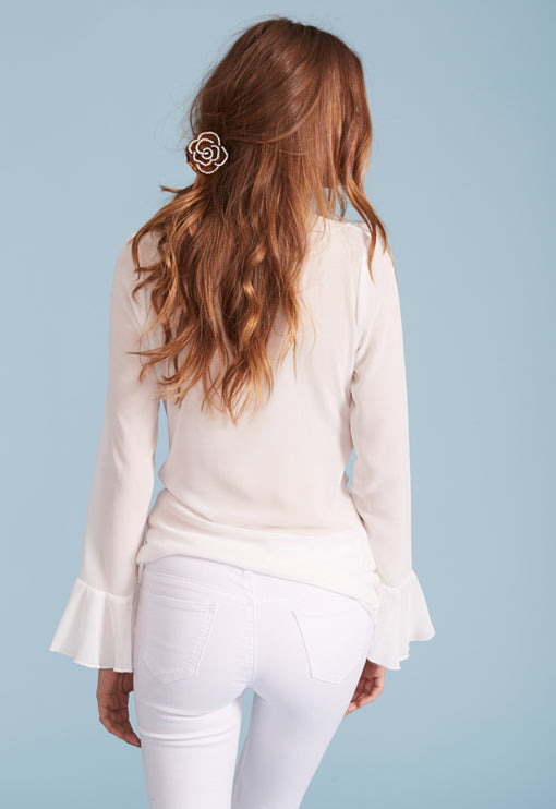 Fontana Ruffle Top - WHITE