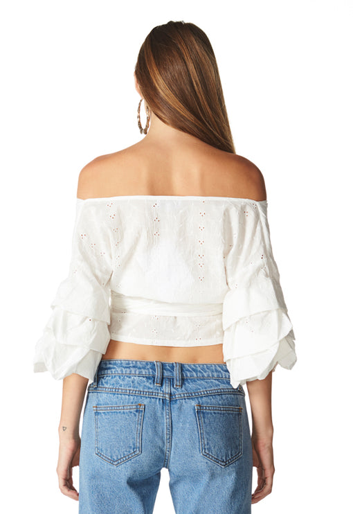 Charmed By You Wrap Top - ANGLAISE