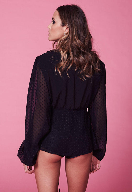 Lovers And Gamblers Top - BLACK
