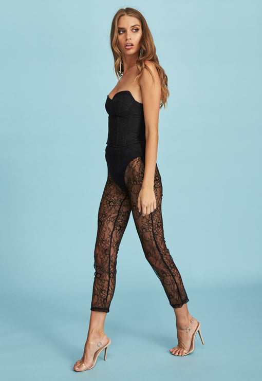 Broadway Lace Pant - BLACK