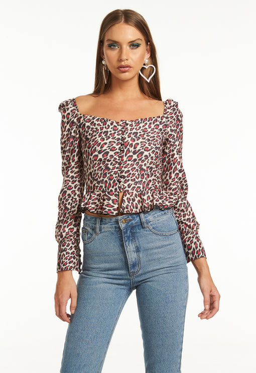 Sweethearts Top - LEOPARD