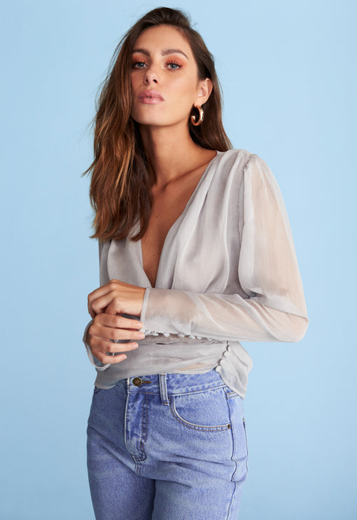 Frida Top - CLOUDY GREY