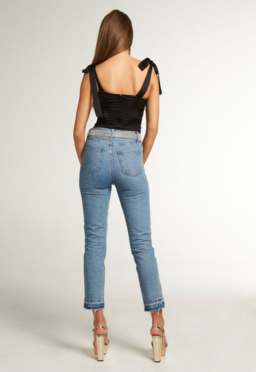 Bad Habit Mom Jean - DENIM BLUE