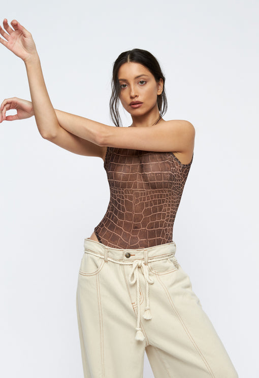 Metropolitan Bodysuit- BROWN