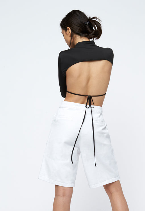 Greenwich Backless Top - BLACK