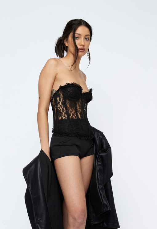 The Plaza Bustier - BLACK