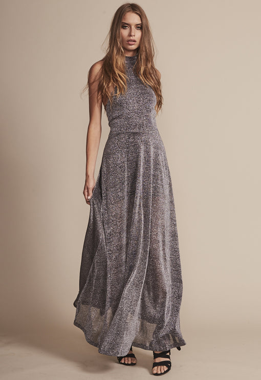 Cadillac Halter Dress - GUNMETAL