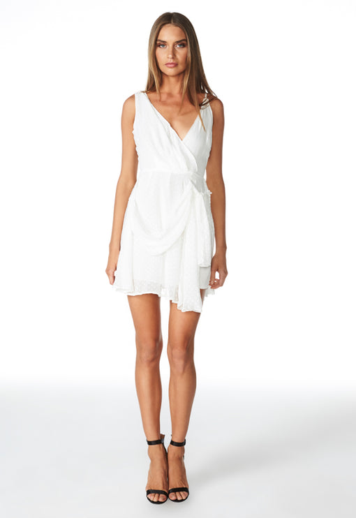 Take Me To Cannes Mini Dress - WHITE