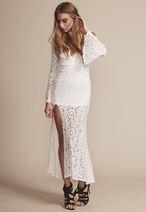 The Boulevard Lace Maxi - WHITE